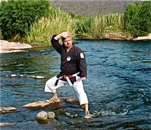 "Sensei John, being ""lazy"" on the Lower Salt River, Arizona, 2010"