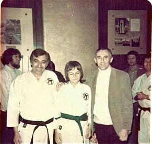 Sensei Nick D'Antuono, Sensei John Szmitkowski (as a green belt), Shihan Don Nagle, Circa: 1975
