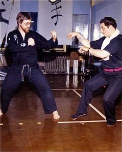 Two departed friends & comrades, Shihan Wayne Norlander & Shihan Peter Urban, Cira 1970's West New York, NJ